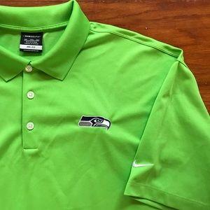Nike + Seahawks + Budweiser Golf Polo Shirt SZ 3XL
